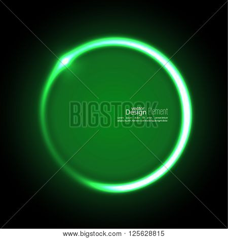 Abstract background with luminous swirling backdrop. Intersection curves. Glowing spiral. The energy flow tunnel. Vector. green, jade, malachite