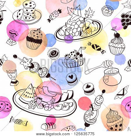 Sweets Seemless Pattern