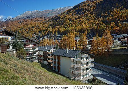 Amazing Panorama to Zermatt Resort, Canton of Valais, Switzerland