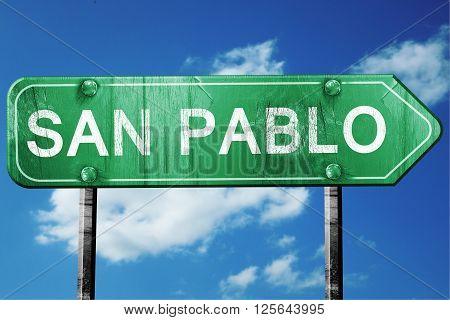 san pablo road sign on a blue sky background