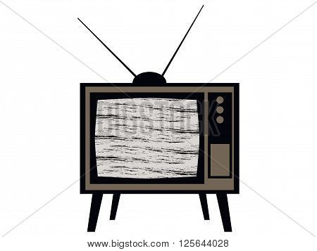 Old tv. Television interference. Retro. Vector illustration..