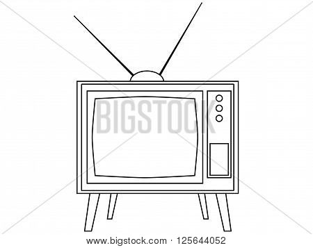 Old Tv With Antennas. Retro Tv Icon. Vector.
