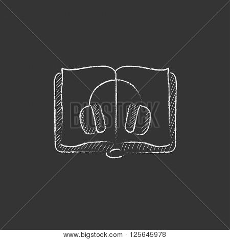 Audiobook. Drawn in chalk icon.