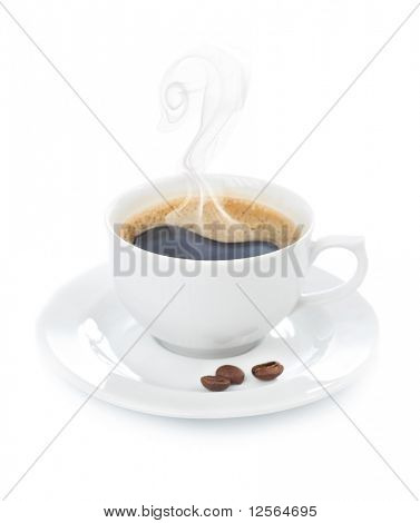Hot Coffee over white
