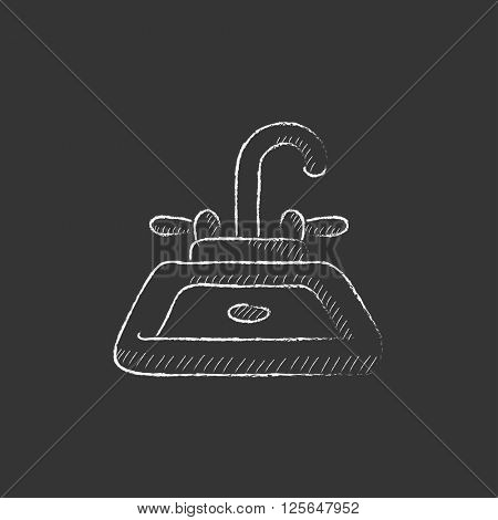 Sink. Drawn in chalk icon.