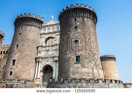 Castel Nouvo Is A Medieval Castle In Naples
