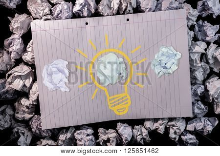 A cloth which is offending against digital image of light bulb