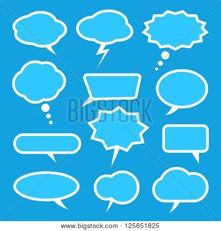 Speech bubble set. Ready to use. You can recolor it by using
