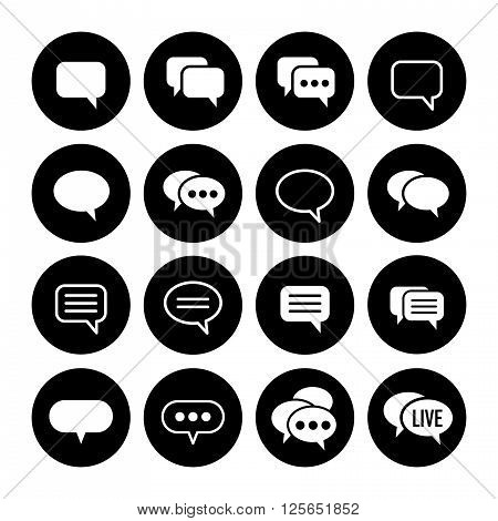 Speech bubble set. You can recolor it by using