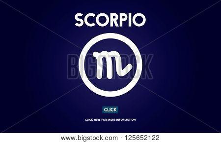 Scorpio Horoscope Icon Zodiac Galaxy Concept