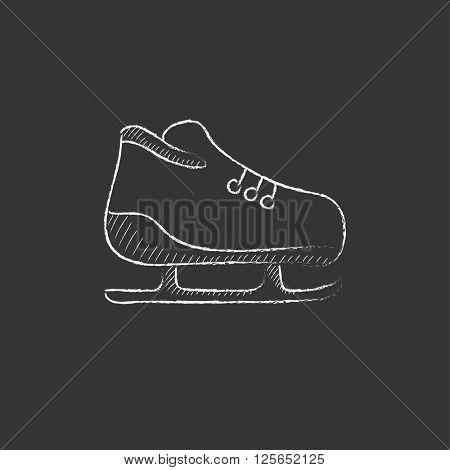 Skate. Drawn in chalk icon.