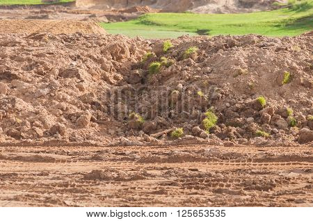 Land development preparing for golf course project