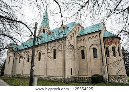 Roman catholic church of saint Stephen king Nove Sady village Slovak republic. Cultural heritage.