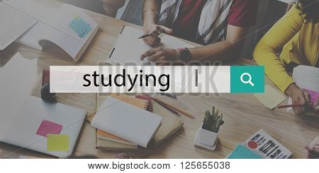 Studying Study Searching Education Concept