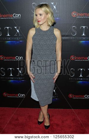 LAS VEGAS - APR 12:  Kristen Bell at the STX Photocall - Cinemacon at the Caesars Palace on April 12, 2016 in Las Vegas, NV