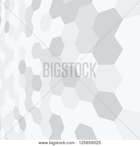 Gray and white geometric pattern, simple hexagonal texture.