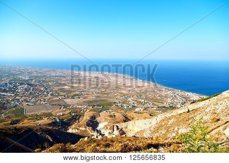 In Cyclades Europe The Sky Sea And Village