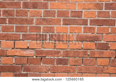 old red brick wall texture or background