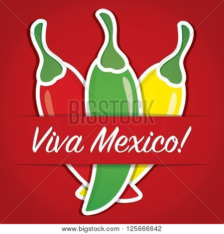 Mexican Paper Cut Out Card In Vector Format.