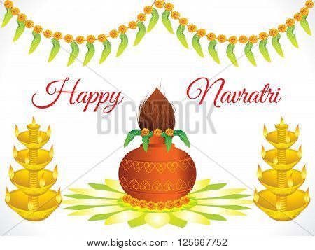 abstract artistic detailed navratri background vector illustration