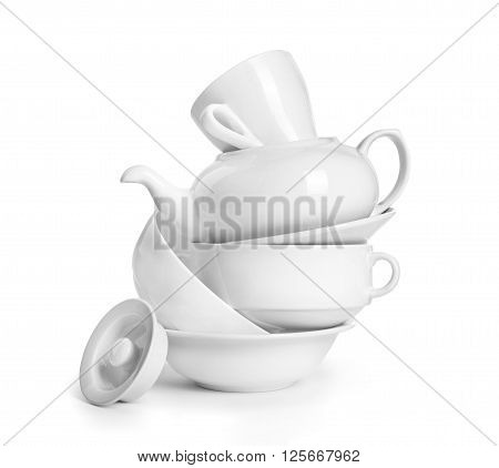 crockery isolated on a white background. vector illustration