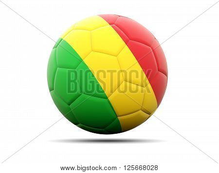 Football With Flag Of Mali