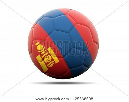 Football With Flag Of Mongolia