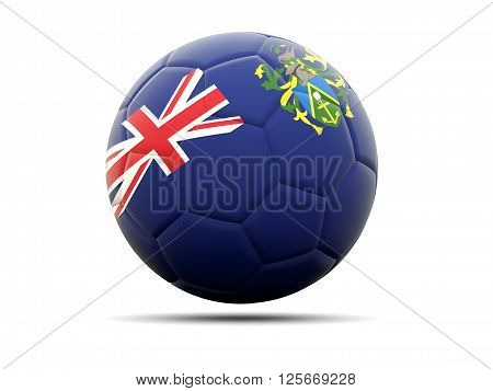 Football With Flag Of Pitcairn Islands