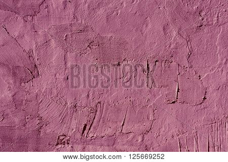 Abstract Magenta Cement Wall Texture.