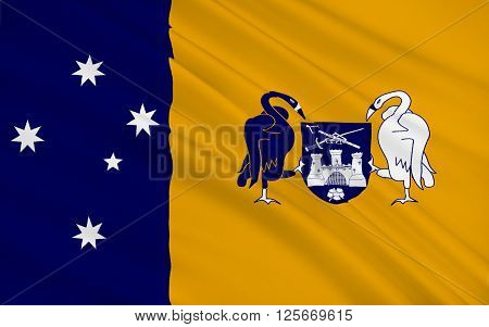 Flag of Australian Capital Territory (ACT)is a territory in the south east of Australia enclaved within New South Wales. It is the smaller of the two self-governing internal territories in Australia.