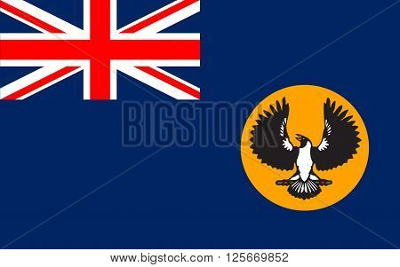 Flag of South Australia (SA) is a state in the southern central part of Australia.