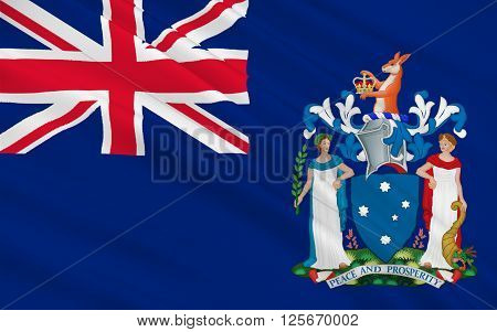 Flag of Victoria (Vic) is a state in the south-east of Australia. Most of its population is concentrated in the area surrounding Port Phillip Bay which includes the metropolitan area of its capital and largest city Melbourne