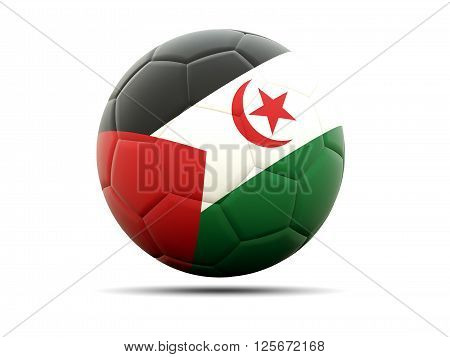 Football With Flag Of Western Sahara