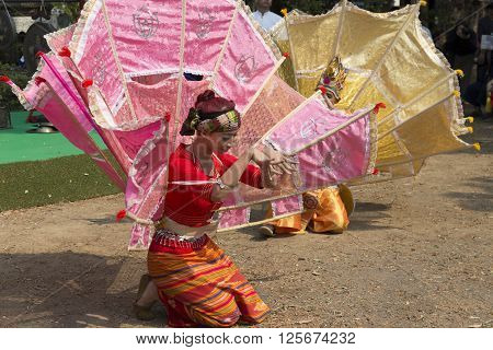 Dancer Perform Traditional Thai Dance
