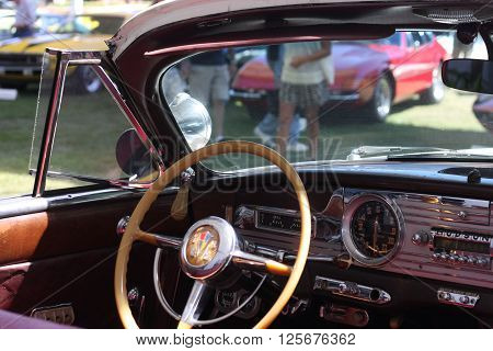 Carmel, California-August 15th 2015, Commadore Convertible previously owned by actor Steve McQueen on display at Bohams Quail Lodge Auction.