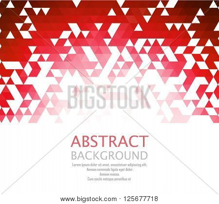 Vector Abstract retro geometric background. Template brochure design. EPS 10