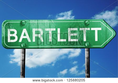 bartlett road sign on a blue sky background