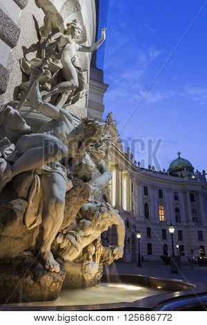 St. Michael's Wing Of Hofburg Imperial Palace with