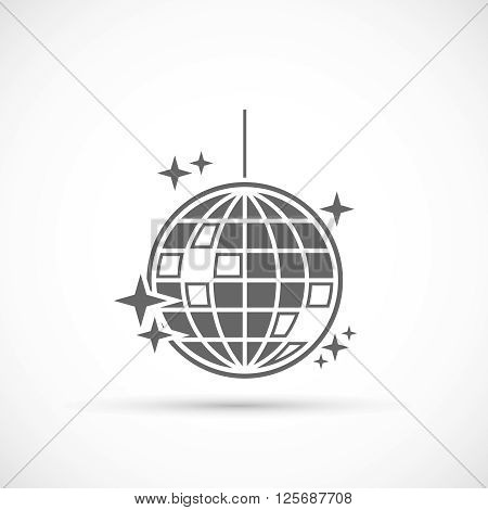 Disco Ball Icon. Mirror disco ball vector illustration