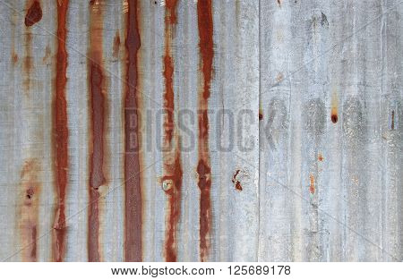 Old vintage zinc texture background old panels. Rusted galvanized iron plate ** Note: Soft Focus at 100%, best at smaller sizes