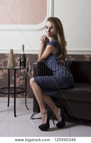 Woman At Sophisticated Party