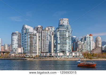 Yaletown - residential area of Downtown Vancouver. British Columbia Canada