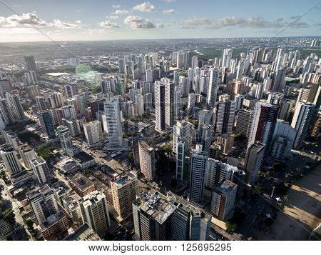Aerial View of Skyscrapers in a Big City
