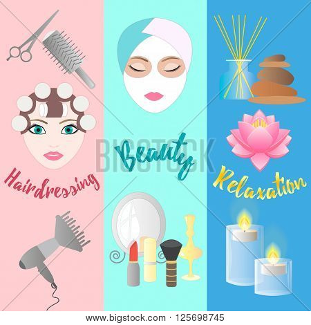 Accessories for Hairdressing salon Facials Beauty Relaxation Aromatherapy and Massage.