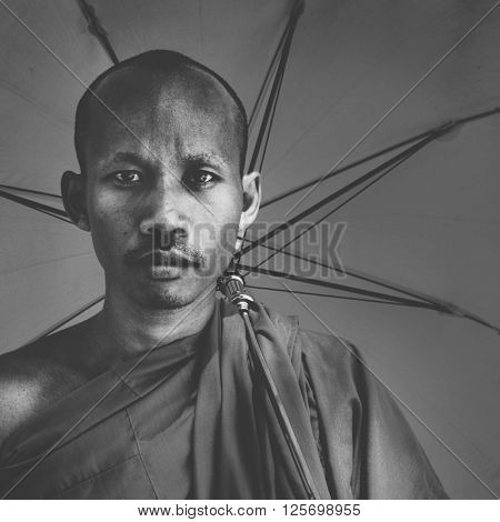 Spiritual Traditional Religious Buddhist Monk Concept