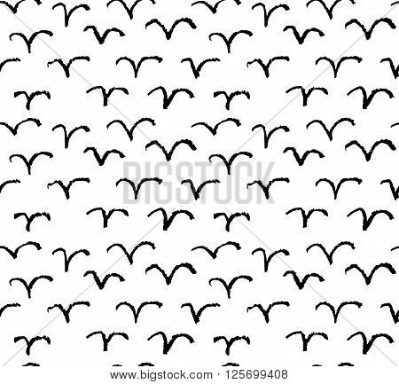 Vector seamless  modern brush spot pattern. Hand drawn artistic pattern.