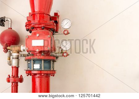 pipe of water sprinkler and fire fighting system