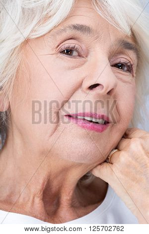 Elderly Woman And Perfect Look