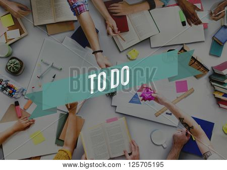 To Do Idea List Memo Noted Organizer Reminder Concept