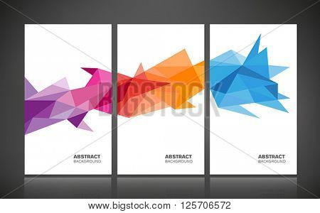 Abstract geometric background - colorful banners, posters with geometric shapes.
